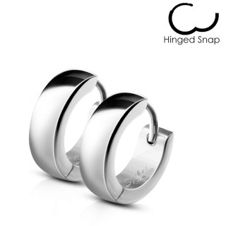 Boucles d'oreilles homme bombées en acier (paire)