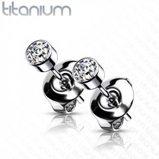 Boucles d'oreilles Titane G23 puces zirconium