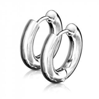 Boucles d'oreilles créoles épaissent inox en acier (paire)