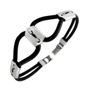 Bracelet homme cables à plaque scorpions
