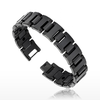 Bracelet homme tungstène Black Belt