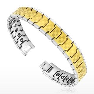 Bracelet homme tungstène Checkerboard