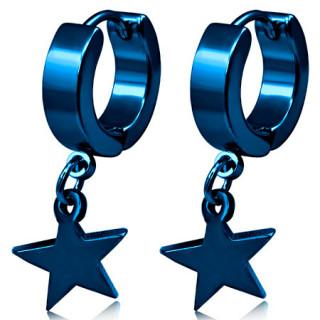 Paire de boucles d'oreilles en anneaux avec étoiles