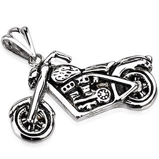 Pendentif acier moto custom de l'enfer