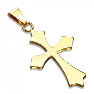 Pendentif croix celtique dorée en acier