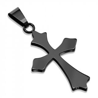 Pendentif croix celtique noire en acier