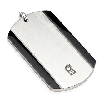 Vente pendentif homme acier plaque sertie bandes - Plaque acier 5mm ...