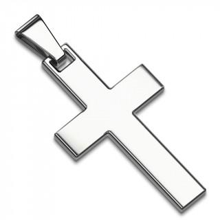 Pendentif homme croix latine en acier inox