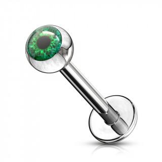 Piercing lèvre oeil humain - Vert