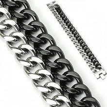 Bracelet homme acier Duo