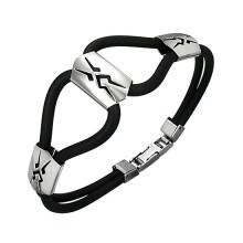 Bracelet homme cables à plaque tribale
