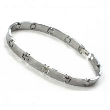 Bracelet homme en tungstène à surface biseautée de losanges