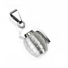 Pendentif homme acier grenade silver