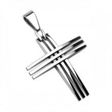Pendentif homme acier triple croix